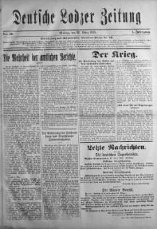 Deutsche Lodzer Zeitung 29 marzec 1915 nr 50