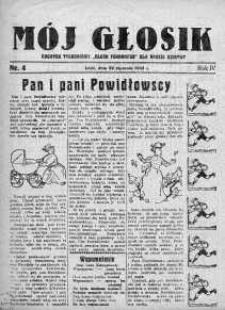 Mój Głosik : dodatek tygodniowy Głosu Porannego dla naszej dziatwy R. 4.1932 nr 4