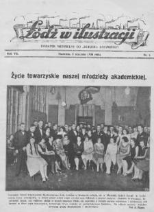 """Łódź w Ilustracji : dodatek niedzielny do """"Kurjera Łódzkiego"""" 1930 (Nr 1-53)"""