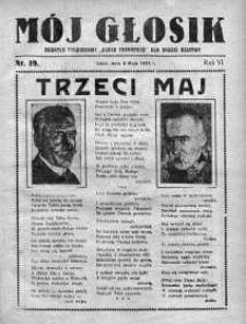 Mój Głosik : dodatek tygodniowy Głosu Porannego dla naszej dziatwy R. 6.1934 nr 19