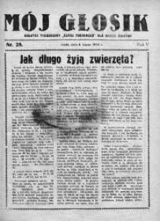 Mój Głosik : dodatek tygodniowy Głosu Porannego dla naszej dziatwy R. 6.1934 nr 28