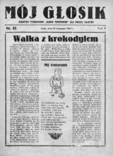 Mój Głosik : dodatek tygodniowy Głosu Porannego dla naszej dziatwy R. 6.1934 nr 47
