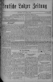 Deutsche Lodzer Zeitung 8 kwiecień 1916 nr 98