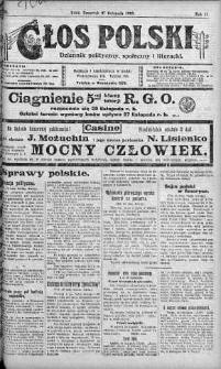 Głos Polski : dziennik polityczny, społeczny i literacki 27 listopad 1919 nr 325