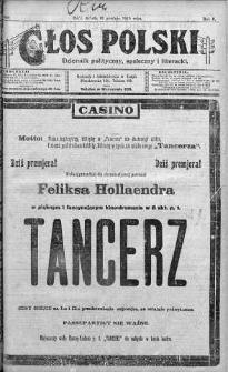 Głos Polski : dziennik polityczny, społeczny i literacki 13 grudzień 1919 nr 340