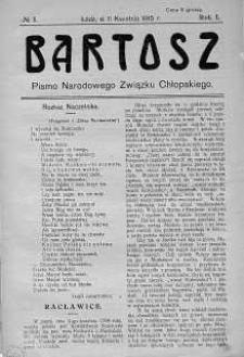 Bartosz. Pismo Narodowego Związku Chłopskiego 11 kwiecień 1915 nr 5