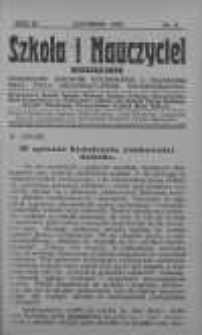 Szkoła i Nauczyciel. Miesięcznik poświęcony sprawom wychowania i nauczania oraz życia organizacyjnego nauczycielstwa 1925 listopad nr 9