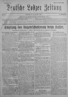 Deutsche Lodzer Zeitung 9 styczeń 1918 nr 9