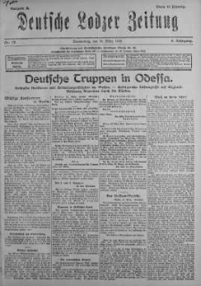 Deutsche Lodzer Zeitung 14 marzec 1918 nr 73