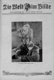 """Die Welt im Bilde. Sonntagsbeilage zur """"Neuen Lodzer Zeitung"""" 19 wrzesień 1937 nr 38"""