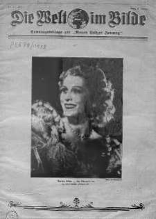 """Die Welt im Bilde. Sonntagsbeilage zur """"Neuen Lodzer Zeitung"""" 9 styczeń 1938 nr 2"""