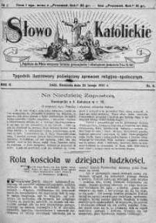 Słowo Katolickie : Tygodnik Ilustrowany Poświęcony Sprawom Religijno-Społecznym 22 luty 1925 nr 8