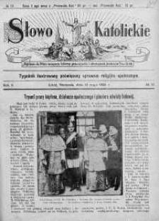 Słowo Katolickie : Tygodnik Ilustrowany Poświęcony Sprawom Religijno-Społecznym 10 maj 1925 nr 19