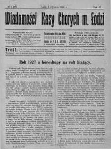Wiadomości Kasy Chorych Miasta Łodzi 2 styczeń 1928 nr 1