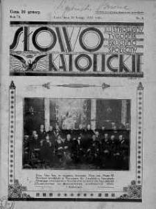 Słowo Katolickie : Tygodnik Ilustrowany Poświęcony Sprawom Religijno-Społecznym 26 luty 1933 nr 9