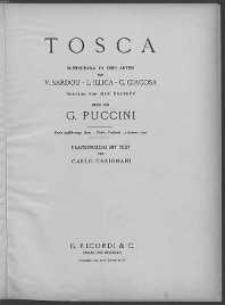 Tosca: Musikdrama in drei Akten. Vol. 1.