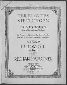 Der Ring des Nibelungen nr 3. Siegfried. Vol. 1.