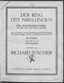 Der Ring des Nibelungen nr 2. Walküre. Vol. 1.