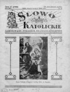 Słowo Katolickie : Tygodnik Ilustrowany Poświęcony Sprawom Religijno-Społecznym 8 styczeń 1939 nr 2