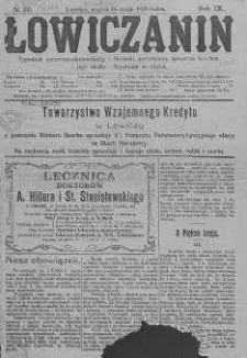 Łowiczanin: tygodnik społeczno- ekonomiczny i polityczny, poświęcony sprawom Łowicza i jego okolic. 1919, R. IX