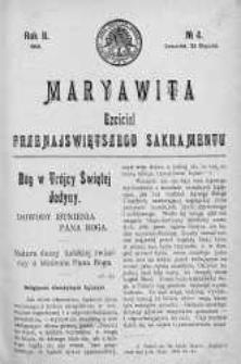 Maryawita. Czciciel Przenejświętszego Sakramentu 23 styczeń 1908 nr 4
