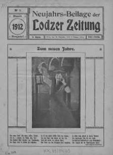 Sonntags-Beilage żur Nummer... der Lodzer Zeitung, Jg49, 1912 nr 1-51