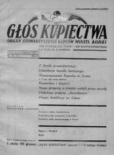 Głos Kupiectwa. Organ Stowarzyszenia Kupców Miasta Łodzi. 1931, nr 10,11
