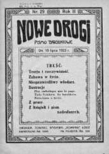 Nowe Drogi : pismo tygodniowe poświęcone sprawom odrodzenia moralno-religijnego i oświaty 15 lipiec 1923 nr 29
