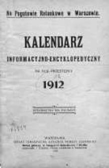 Kalendarz informacyjno-encyklopedyczny na rok 1912