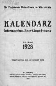 Kalendarz informacyjno-encyklopedyczny na rok 1928