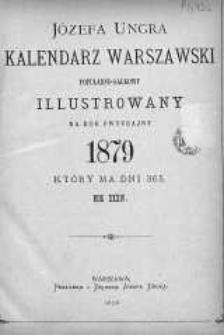 Józefa Ungra Kalendarz Warszawski Popularno-Naukowy na rok 1879
