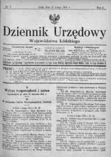 Dziennik Urzędowy Województwa Łódzkiego 21 luty 1921 nr 7