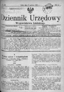 Dziennik Urzędowy Województwa Łódzkiego 6 czerwiec 1921 nr 20