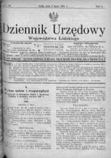 Dziennik Urzędowy Województwa Łódzkiego 4 lipiec 1921 nr 24