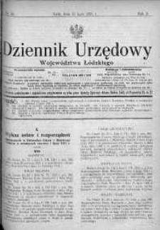 Dziennik Urzędowy Województwa Łódzkiego 18 lipiec 1921 nr 26
