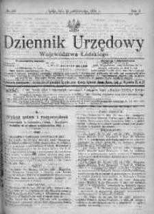 Dziennik Urzędowy Województwa Łódzkiego 24 październik 1921 nr 39