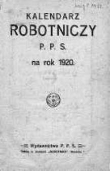 Kalendarz Robotniczy P.P.S. na rok 1920