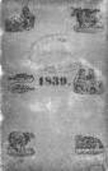 Kalendarz Pielgrzymstwa Polskiego na rok 1839