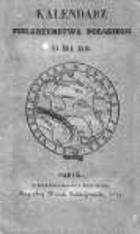 Kalendarz Pielgrzymstwa Polskiego na rok 1840