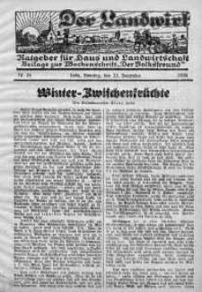 Der Landwirt 25 grudzień 1938 nr 24