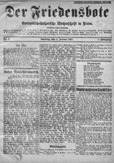 Der Friedensbote. Evangelisch-Lutherische Wochenschrift in Polen 2 styczeń 1927 nr 1