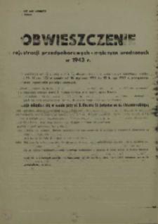 Obwieszczenie o rejestracji przedpoborowych – mężczyzn urodzonych w 1943 r.