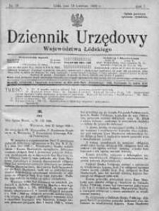 Dziennik Urzędowy Województwa Łódzkiego 19 kwiecień 1926 nr 16