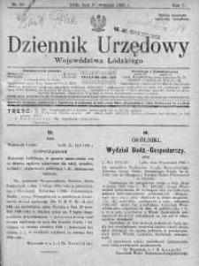 Dziennik Urzędowy Województwa Łódzkiego 27 wrzesień 1926 nr 39