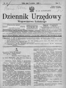 Dziennik Urzędowy Województwa Łódzkiego 6 grudzień 1926 nr 49