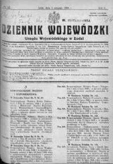 Dziennik Urzędowy Województwa Łódzkiego 1 sierpień 1928 nr 12