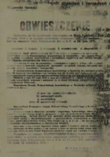 Obwieszczenie. 13 lipca 1946 r.