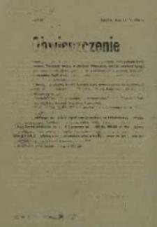 Obwieszczenie. 16 maja 1946 r.