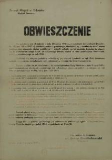 Obwieszczenie. 13 sierpnia 1947 r.