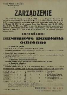 Zarządzenie przymusowych szczepień ochronnych